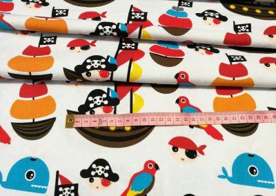 Bawełna premium wzór piraci