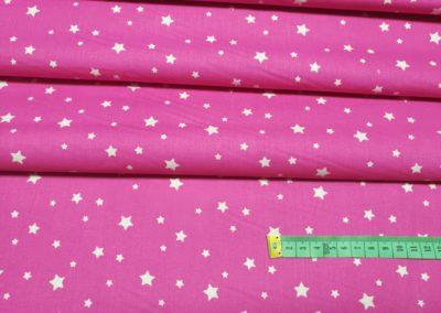 Bawełna wzór białe gwiazdki na amarancie