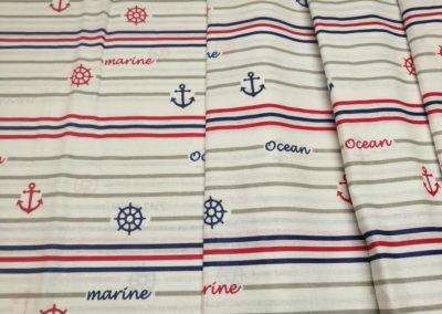 Bawełna wzór ocean marine