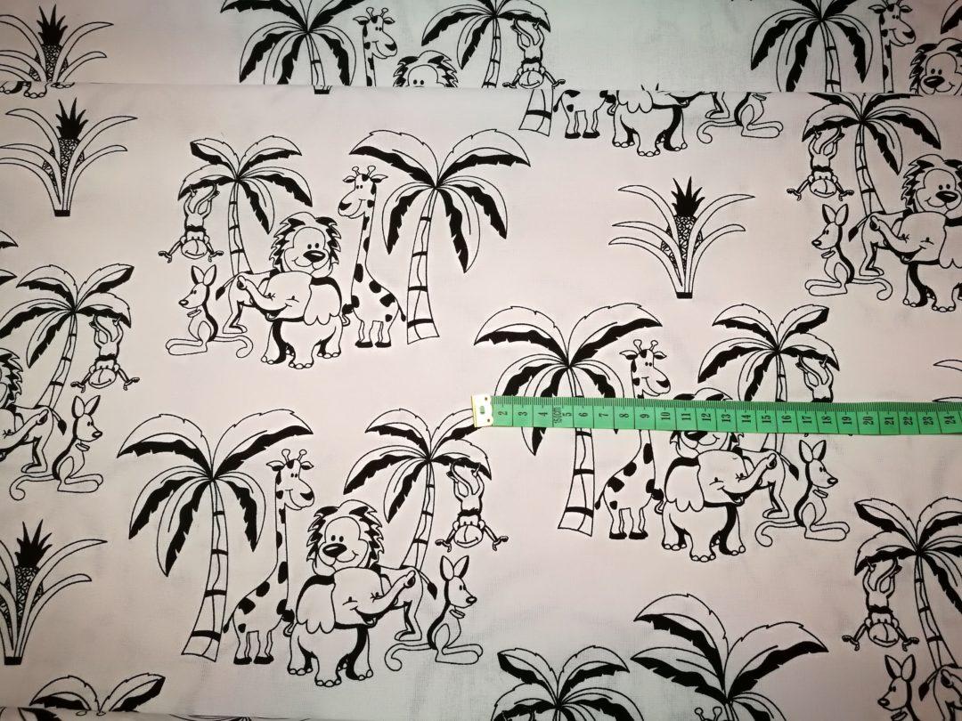 Bawełna wzór safari na białym