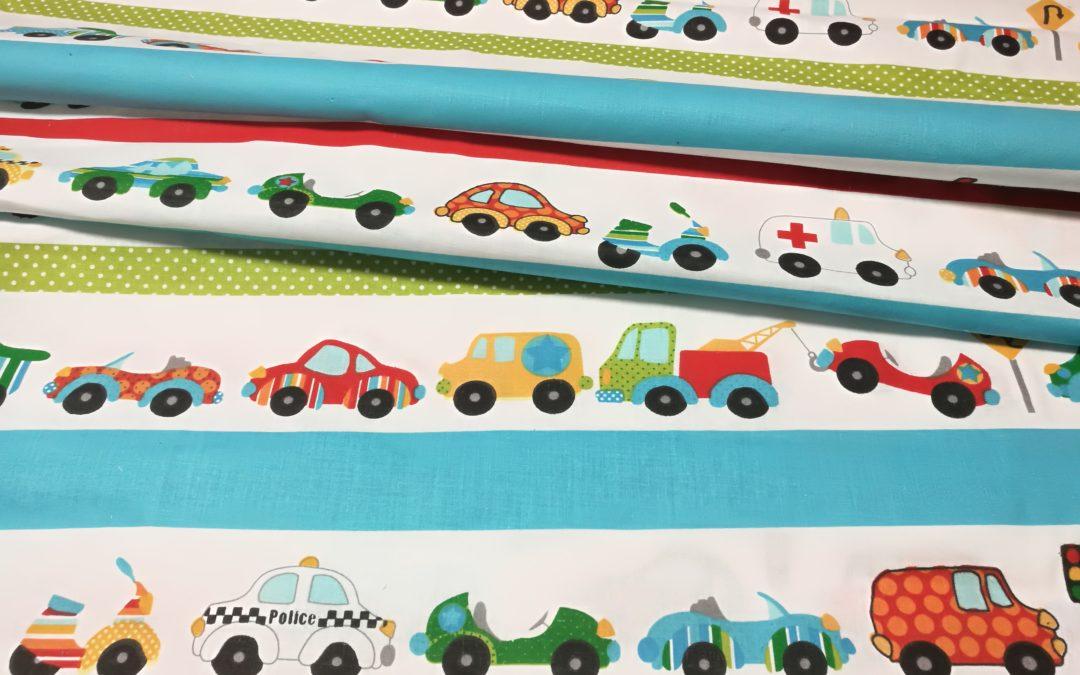 Bawełna wzór samochody