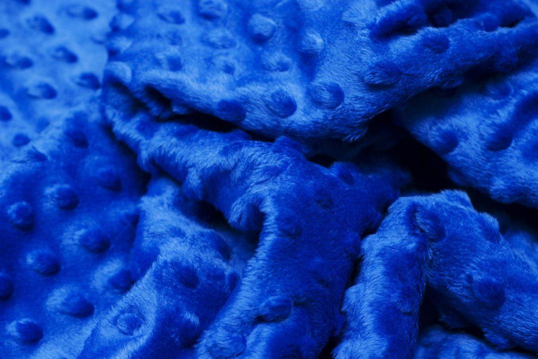 Minky Dazzling blue