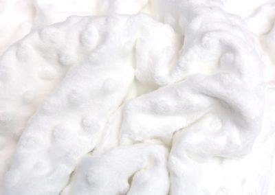 Minky White swan biały