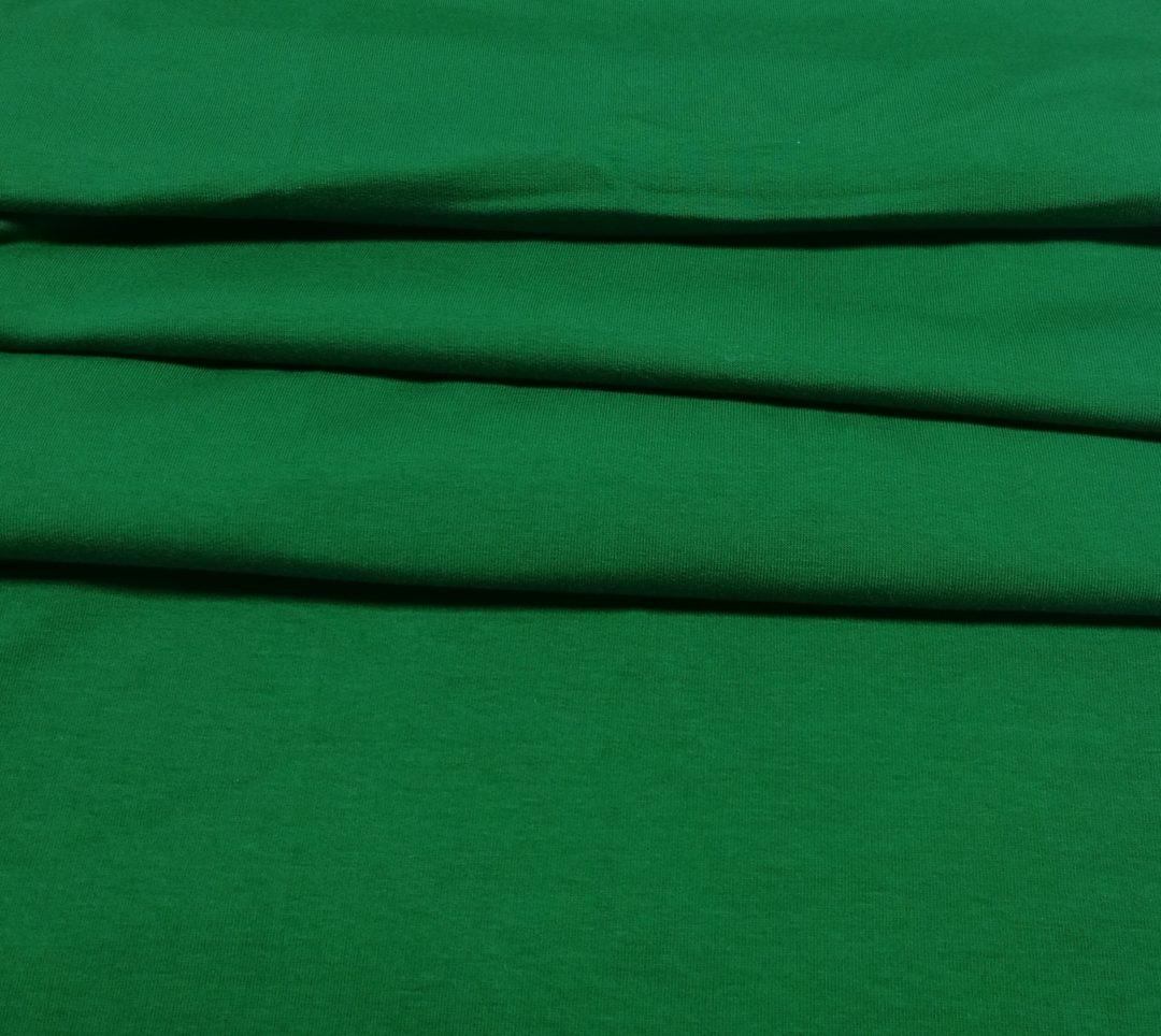 Dresówka gładka pętelka głęboka zieleń