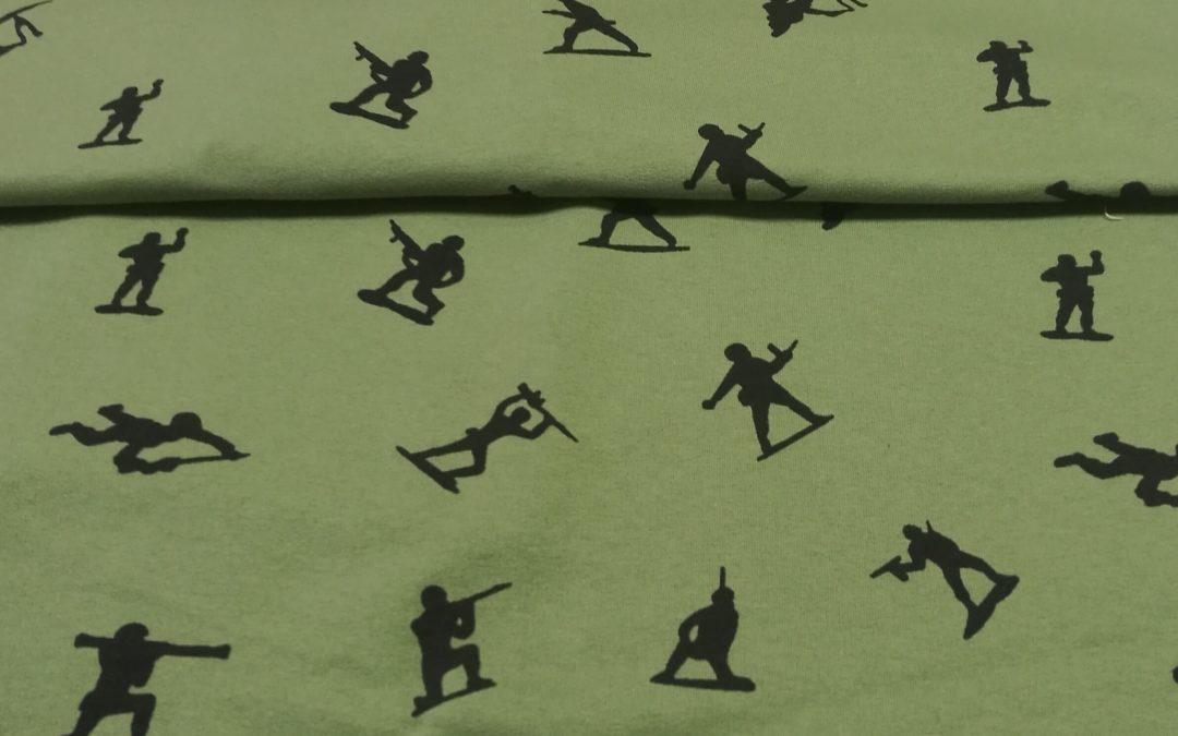 Dresówka wzór pętelka żołnierze na oliwce