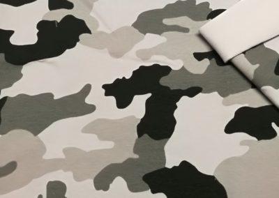 Dresówka wzór pętelka szare moro