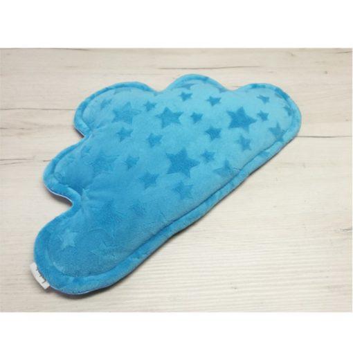 Poduszka chmurka Nocne niebo + niebieskie Minky gwiazdki-Kuamka