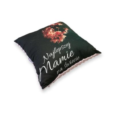 Poduszka Minky dla mamy pudrowy róż- Kuamka