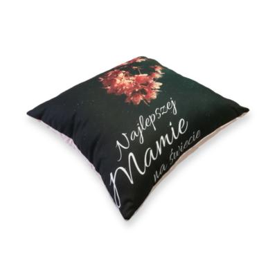 Poduszka dla mamy z magnoliowym Velvetem- Kuamka