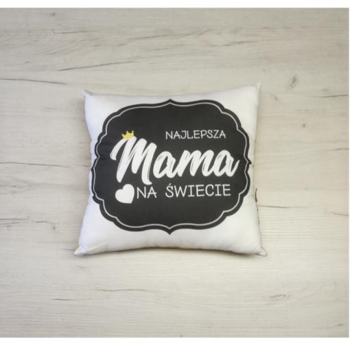 poduszka dla mamy z musztardowym gładkim velvetem- Kuamka