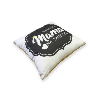 poduszka dla mamy z musztardowym velvetem- Kuamka