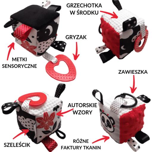 Kontrastowa kostka sensoryczna Panda-Kuamka