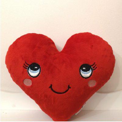 Poduszka ozdobna serce z otwartymi-Kuamka oczami