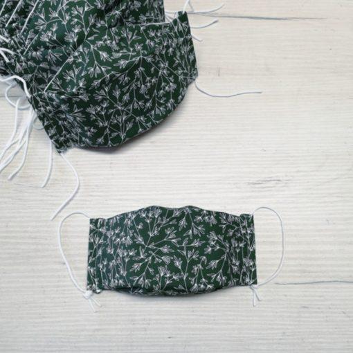 maseczka na twarz z jonami srebra-gałązki na zieleni