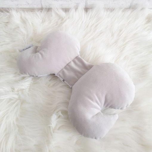 poduszka podróżna motylek velvet krata + nimbus cloud